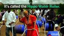Un bidon d'eau roulant pour aider les populations en Afrique