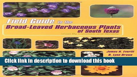 PDF  Field Guide to the Broad-Leaved Herbaceous Plants of South Texas: Used by Livestock and