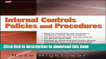 Ebook Internal Controls Policies and Procedures Full Online