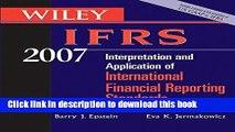 Ebook Wiley IFRS 2007: Interpretation and Applicationof International Financial Reporting