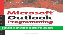 Ebook Microsoft Outlook Programming: Jumpstart for Administrators, Developers, and Power Users