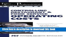 Ebook The Food Service Professional Guide to Controlling Restaurant   Food Service Operating Costs