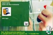 Toronto Distributor |  Maid Carts: Maids Cart Blue Continental , facilities-janitorial-supplies.com