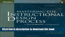 Read Online Mastering The Instructional Design Process With Cd Rom A Systematic Approach Third Video Dailymotion