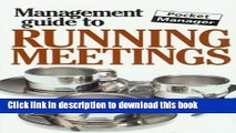 Books The Management Guide to Running Meetings: The Pocket Manager (Management Guides - Oval