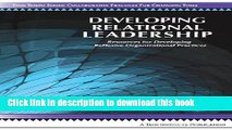 PDF  Developing Relational Leadership: Resources for Developing Reflexive Organizational