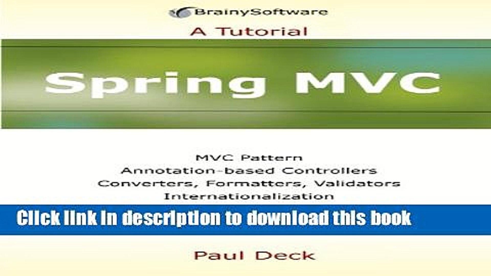 Spring mvc sample application download