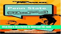 Books Penn State: Off the Record (College Prowler) (College Prowler: Penn State Off the Record)