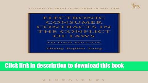 Ebook Electronic Consumer Contracts in the Conflict of Laws Full Online