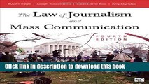 Books The Law Of Journalism And Mass Communication Free Online