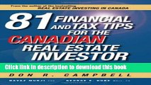 Ebook 81 Financial and Tax Tips for the Canadian Real Estate Investor: Expert Money-Saving Advice