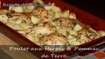 Poulet aux Herbes & Pommes de Terre - Chicken with Herbes & Potatoes - الدجاج بالأعشاب في الفرن