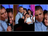 Obama sings 'Happy Birthday' to Malia during Fourth of July celebrations