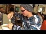 Eating squid delicious