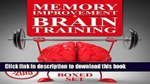 Read Memory Improvement   Brain Training: Unlock the Power of Your Mind and Boost Memory in 30