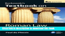 Read Borkowski's Textbook on Roman Law PDF Free - video dailymotion