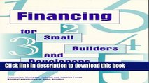 Ebook Financing for Small Builders and Developers Full Online