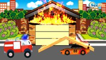 Racing Cars with Police Cars - Car Race - Cartoons for children! Emergency Vehicles Kids Cartoons