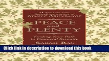 Ebook Peace and Plenty: Finding Your Path to Financial Serenity Full Online KOMP