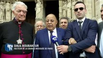 Dalil Boubakeur à la messe de Notre-Dame de Paris en hommage au père Hamel