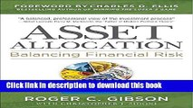 Books Asset Allocation: Balancing Financial Risk, Fifth Edition Full Online