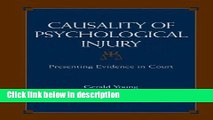 Books Causality of Psychological Injury: Presenting Evidence in Court Free Online