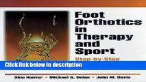 Books Foot Orthotics in Therapy and Sport Free Online