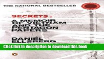 Ebook Secrets: A Memoir of Vietnam and the Pentagon Papers Free Online