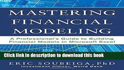 Ebook Mastering Financial Modeling: A Professional s Guide
