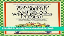 Ebook American Wholefoods Cuisine: Over 1300 Meatless, Wholesome Recipes from Short Order to