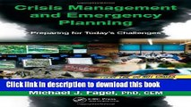 Ebook Crisis Management and Emergency Planning: Preparing for Today s Challenges Full Online