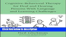 Books Cognitive-Behavioral Therapy for Deaf and Hearing Persons with Language and Learning
