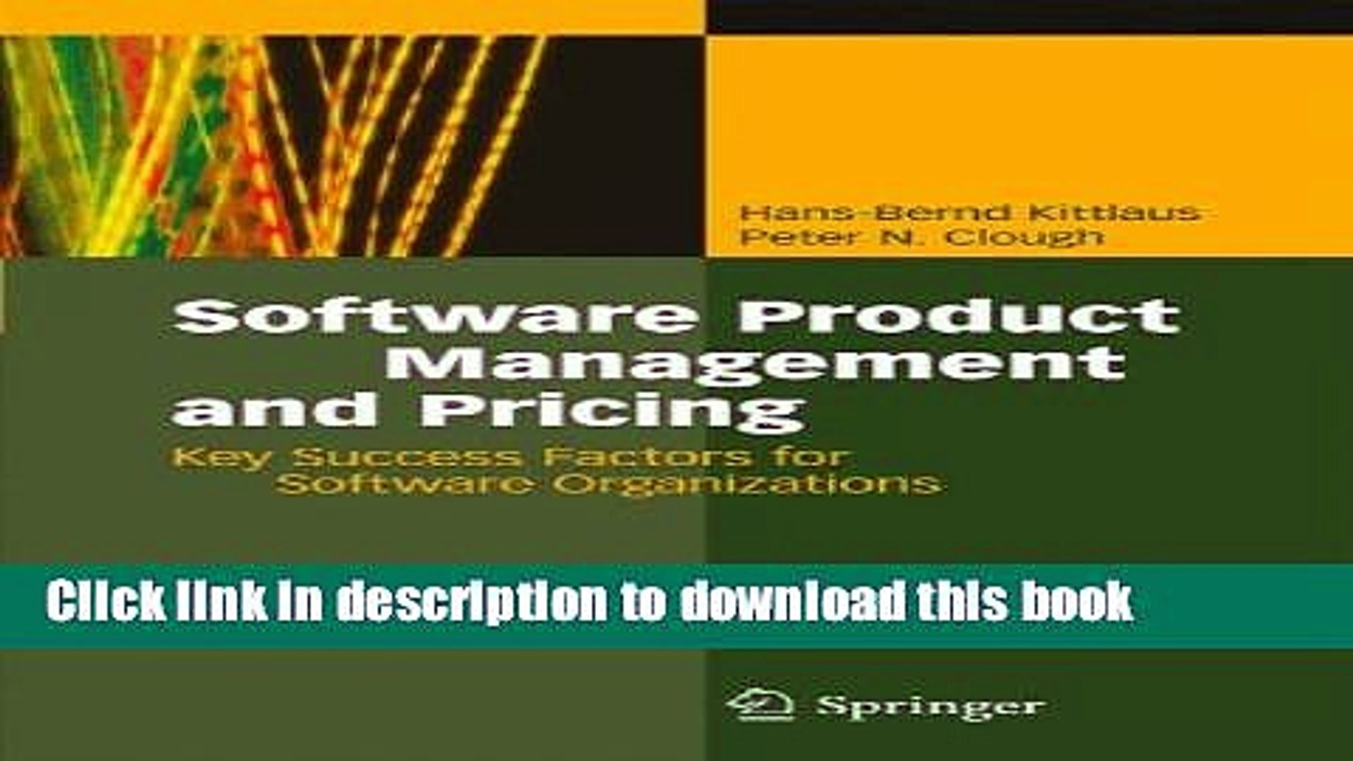 Books Software Product Management and Pricing: Key Success Factors for Software Organizations Free