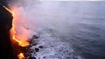 Incroyable éruption à Hawaï : une cascade de lave se déverse dans le Pacifique