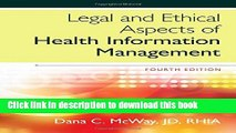 [Read PDF] Legal and Ethical Aspects of Health Information Management Ebook Free
