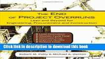 Ebook The End of Project Overruns: Lean and Beyond for Engineering, Procurement and Construction