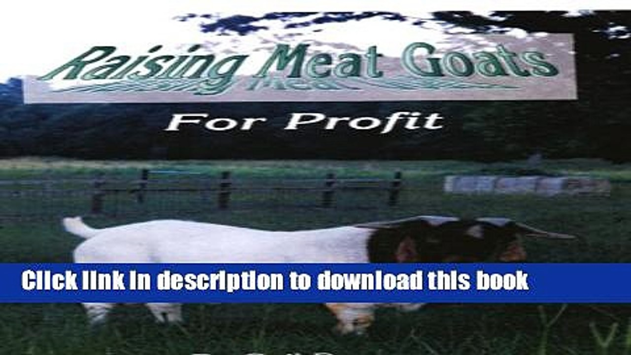 Ebook Raising Meat Goats for Profit Full Download
