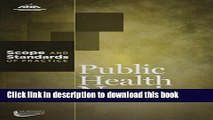 Public Health Nursing: Scope and Standards of Practice (American Nurses Association) For Free