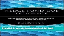 Books Hedge Fund Due Diligence: Professional Tools to Investigate Hedge Fund Managers Free Online
