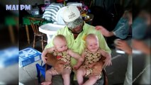 Funny babies are the hardest try not to laugh - Super Cute Daddies And Twins Babies Moments