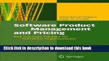[Read PDF] Software Product Management and Pricing: Key Success Factors for Software Organizations