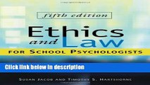 Ebook Ethics and Law for School Psychologists Free Online