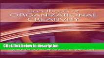 Books Handbook of Organizational Creativity Free Online