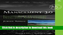 Ebook Management 3.0: Leading Agile Developers, Developing Agile Leaders (Addison-Wesley Signature
