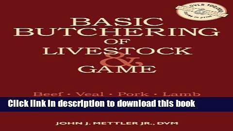 Books Basic Butchering of Livestock   Game Free Online