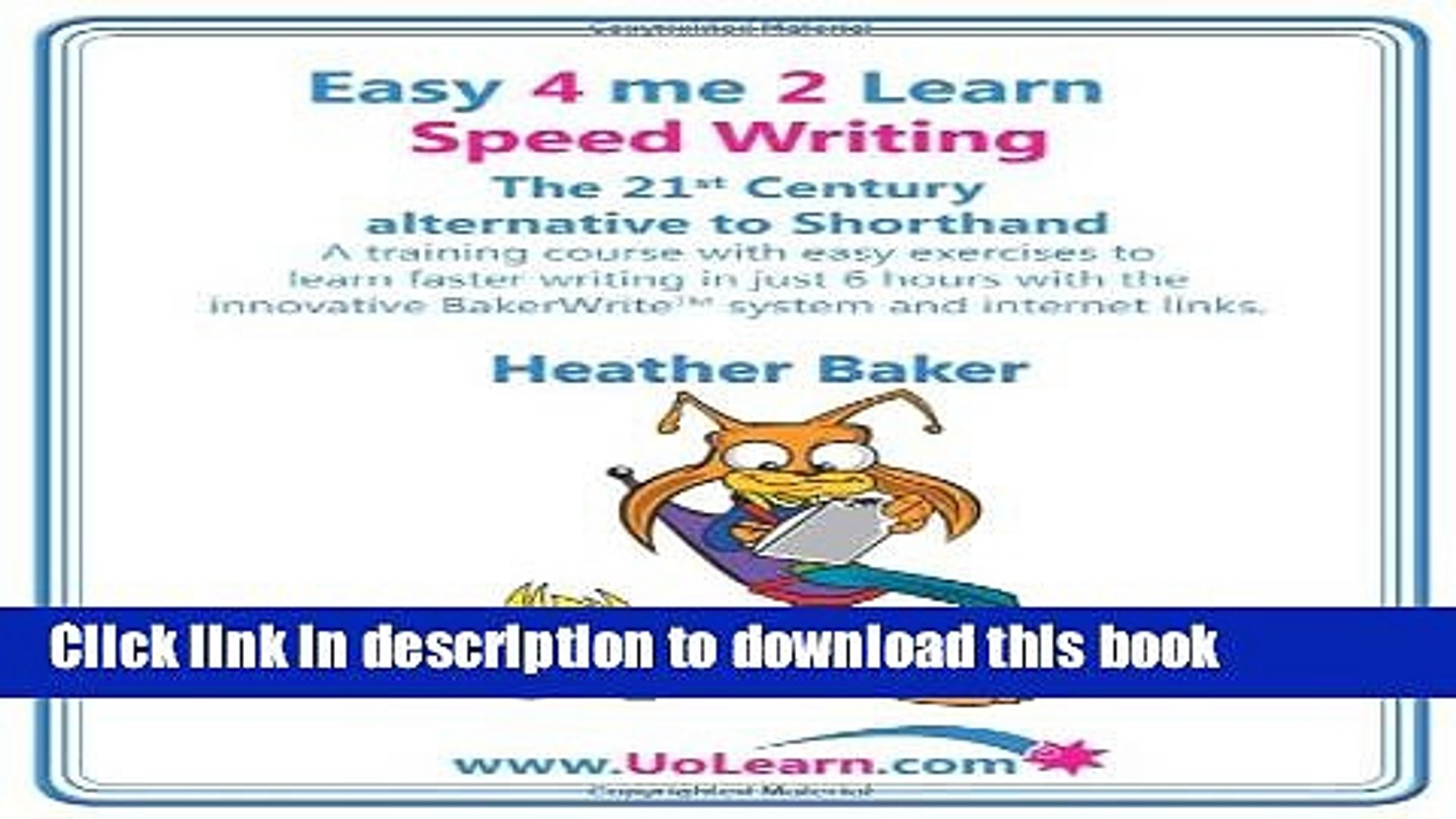 PDF Speed Writing, the 21st Century Alternative to Shorthand: A Training  Course with Easy
