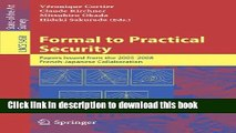 Ebook Books} Formal to Practical Security: Papers Issued from the 2005-2008 French-Japanese