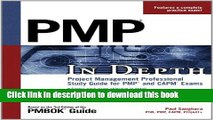Books PMP in Depth: Project Management Professional Study Guide for PMP and CAPM Exams Free Online