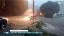 Une femme sauvée in extremis dans le Maryland pendant une inondation - Regardez