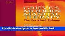 Books Grieve s Modern Manual Therapy: The Vertebral Column, 3e Full Online